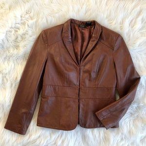 Nicole Miller 100% Leather Blazer Jacket